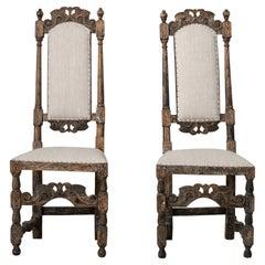 Mid 18th Century Pair of Swedish Baroque Chairs