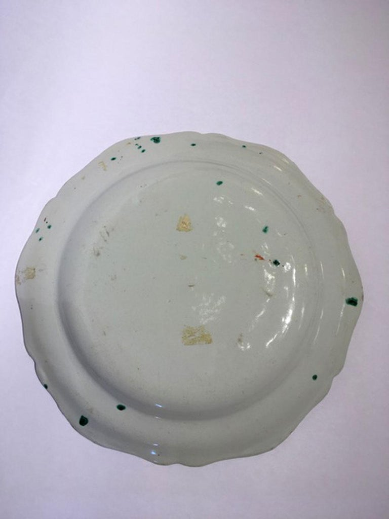 Mid-18th Century Richard Ginori Doccia Porcelain Dish with Red Cock For Sale 4