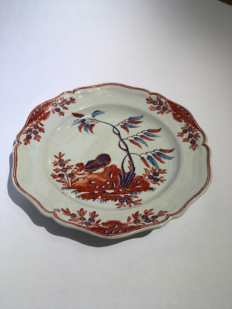 The powerful colors of this hand painted dish are very attractive. The drawing is a best sellers of the Richard Ginori Doccia manufacturer. Not easy to find in so perfect condition. On the back are visible all the original stains due to the