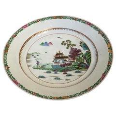 Mid-18th Century Richard Ginori Porcelain Dish with Japan Landscape