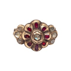 Mid-18th Century Spanish Ruby and Diamond Ring