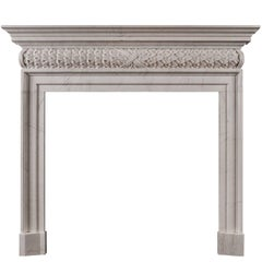 Mid-18th Century Style White Marble Fireplace
