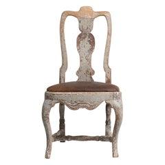 Mid 18th Century Swedish Pine Late Baroque Chair
