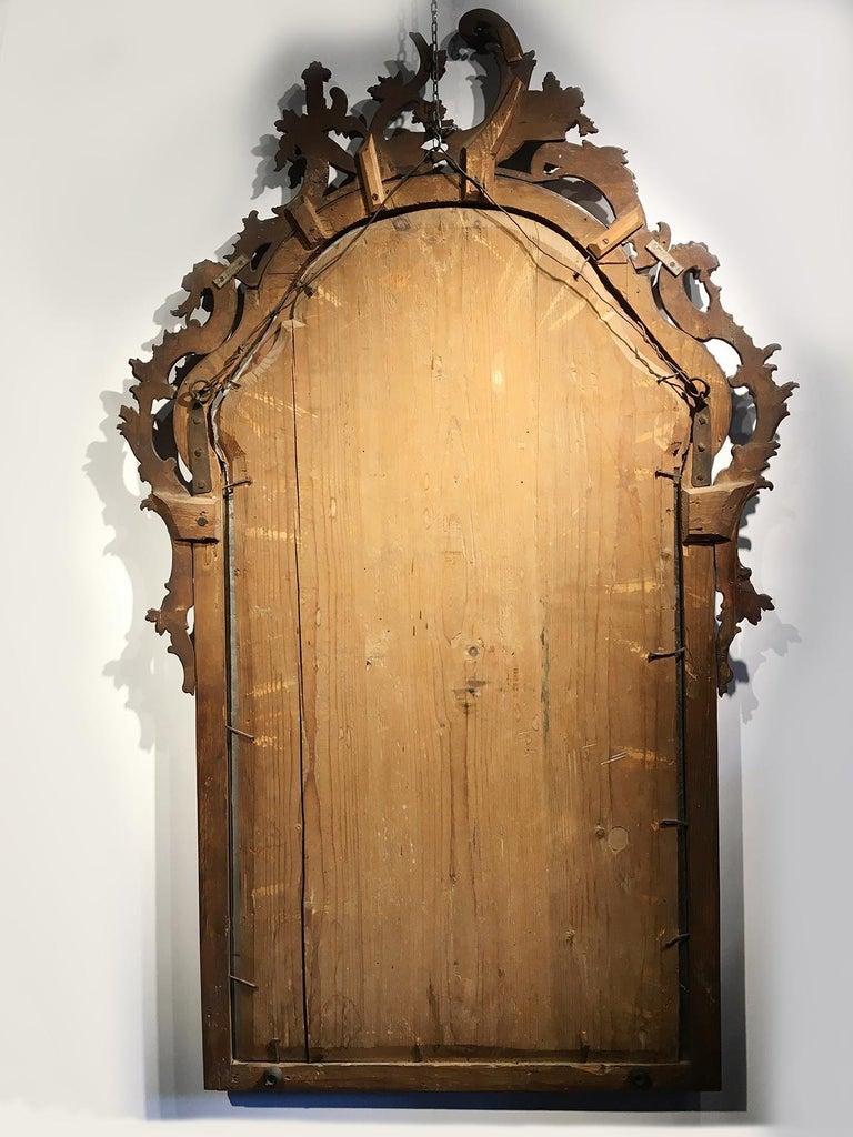 Mid-18th Century Venice Walnut Mirror, circa 1750 For Sale 10
