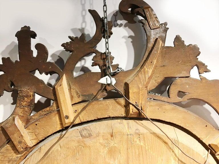 Mid-18th Century Venice Walnut Mirror, circa 1750 For Sale 11
