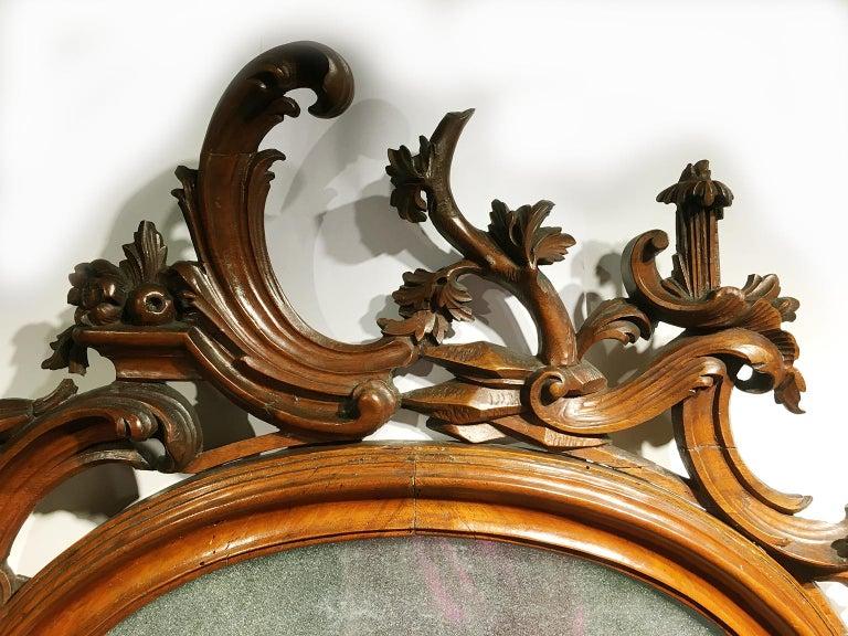 Rococo Mid-18th Century Venice Walnut Mirror, circa 1750 For Sale