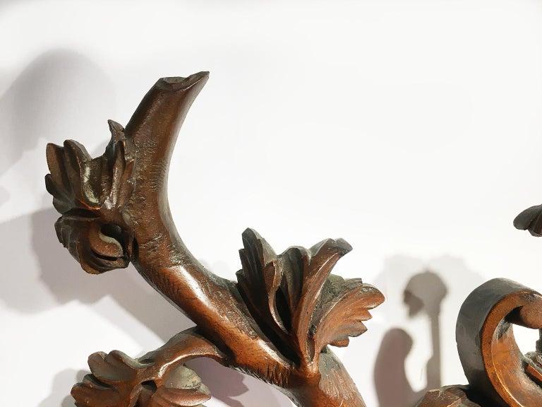 Italian Mid-18th Century Venice Walnut Mirror, circa 1750 For Sale