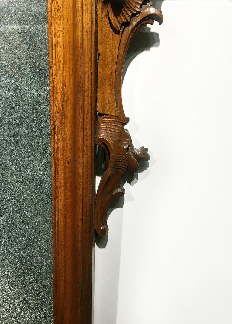 Mid-18th Century Venice Walnut Mirror, circa 1750 For Sale 3