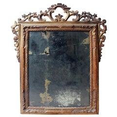 Mid-18th Century Italian Giltwood Wall Mirror, circa 1760