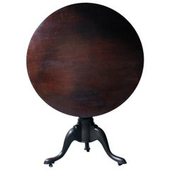 Mid-18th Century Mahogany Birdcage Tilt-Top Tripod Table, circa 1750-1760