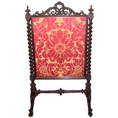 Mid-19 Century American Rococco Revival Fire Screen