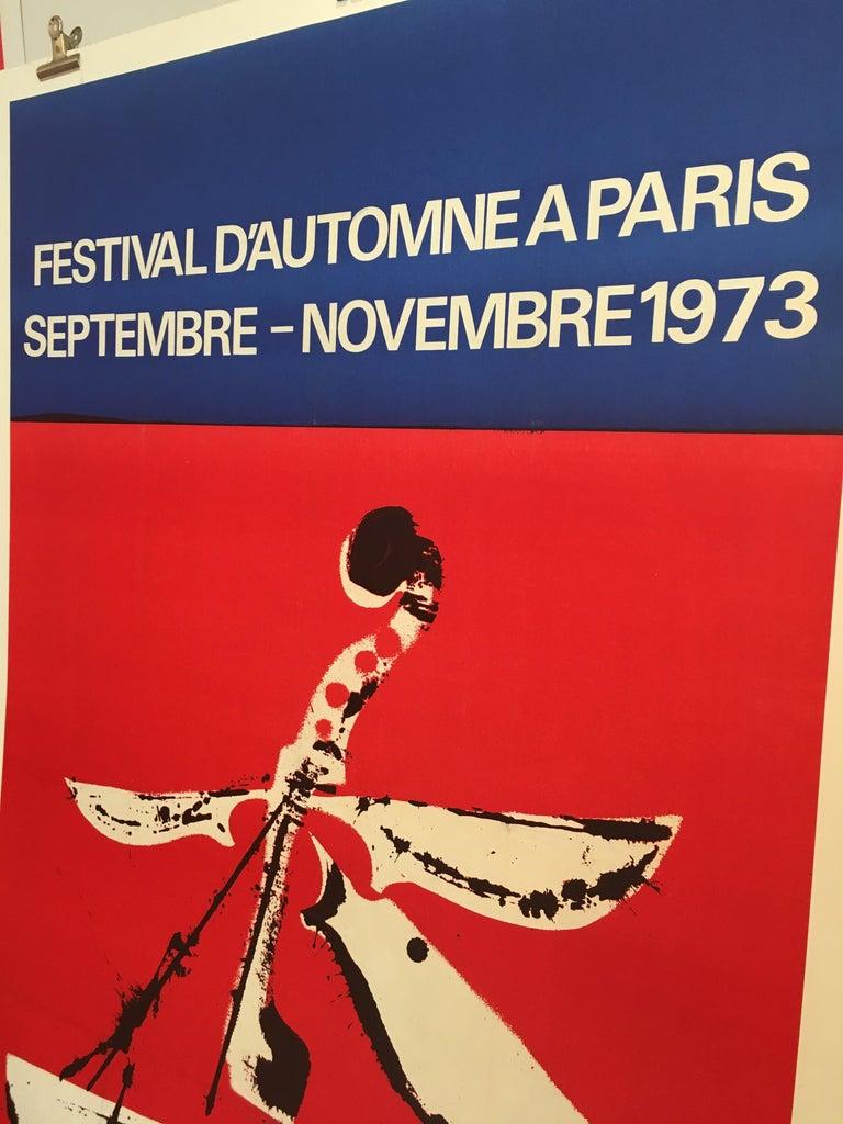 Mid-1970s original vintage French festival poster, 'Festival D'automne', 1973   Artist:  Arman  Dimensions:  158 x 109 cm  Year:  1973.