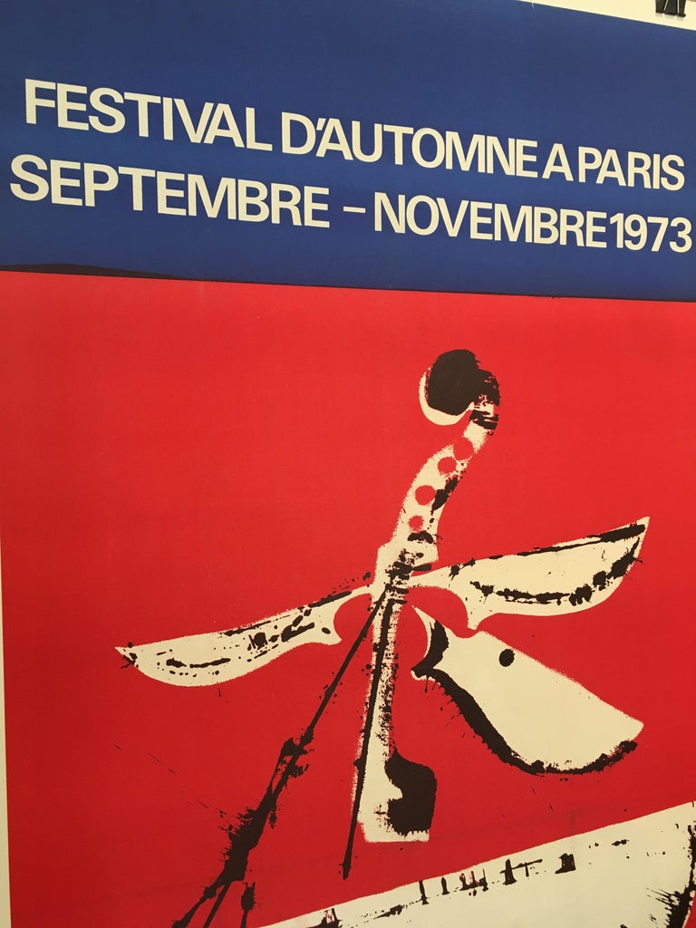Mid-1970s Original Vintage French Festival Poster, 'Festival D'automne', 1973 In Excellent Condition For Sale In Melbourne, Victoria