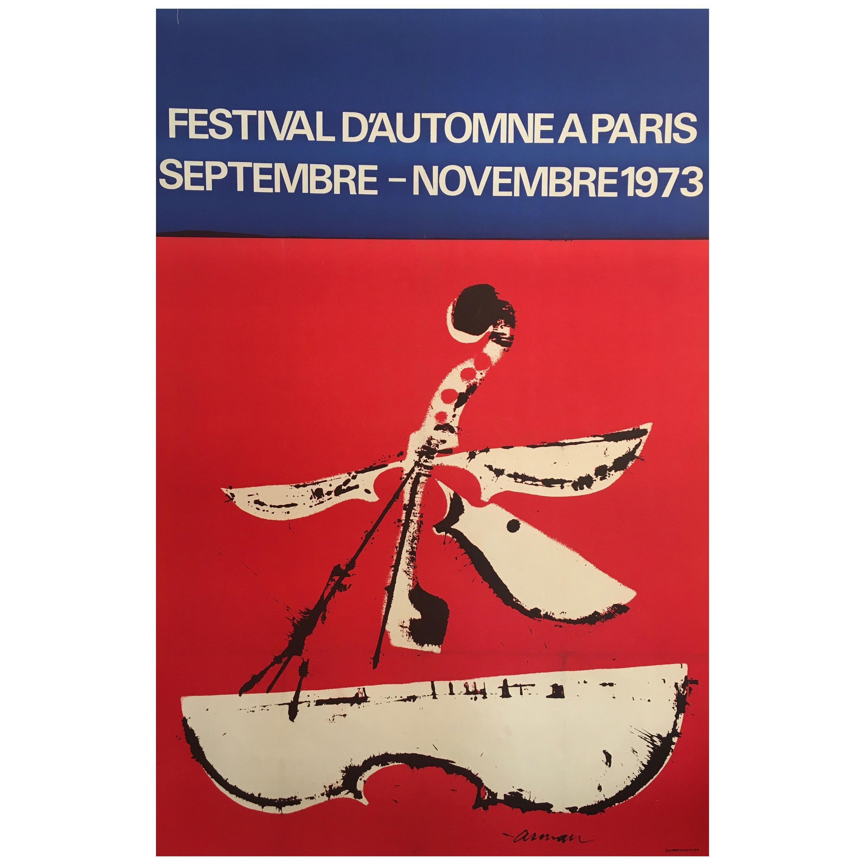 Mid-1970s Original Vintage French Festival Poster, 'Festival D'automne', 1973