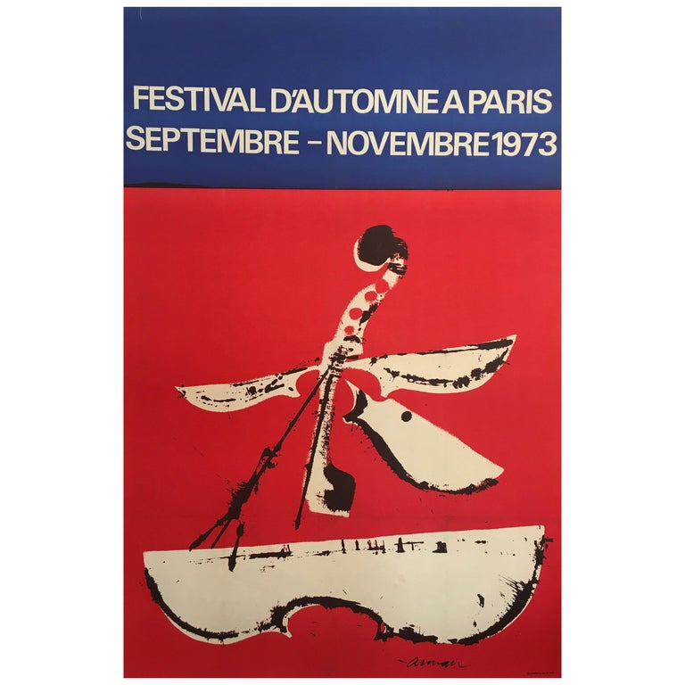 Mid-1970s Original Vintage French Festival Poster, 'Festival D'automne', 1973 For Sale