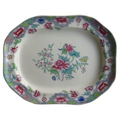 Mid 19th C Copeland / Spode Large Platter or Meat Plate pattern 8036, Ca 1850