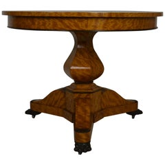 Mid-19th Century Satinwood Center Table in the Empire Style