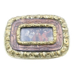Mid 19th Century 15Ct Yellow Gold, White Gold & Copper Portrait Brooch
