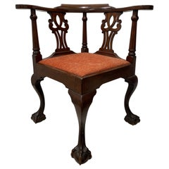 Mid-19th Century American Chippendale Corner Chair, circa 1850s