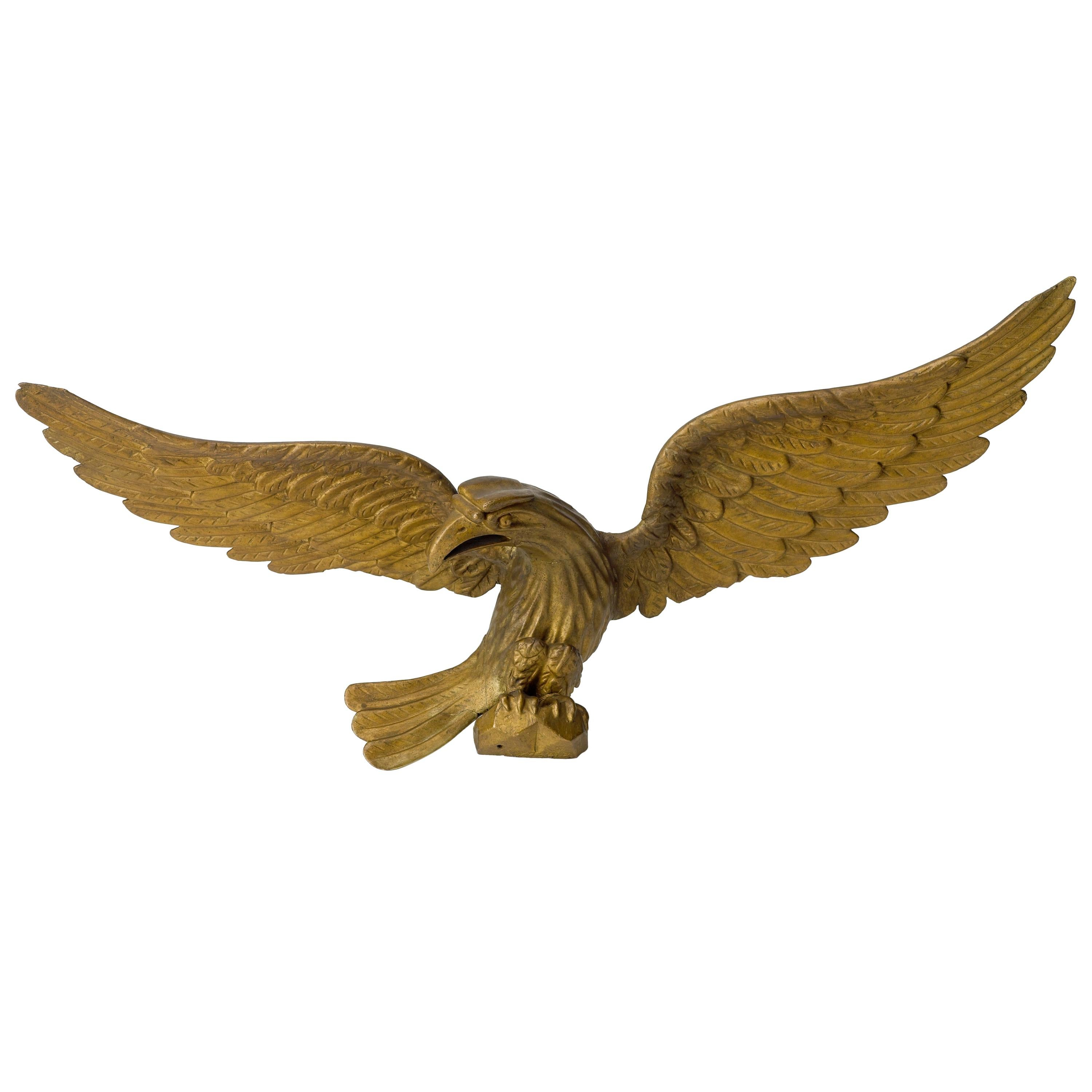 Hand-Carved American Eagle, Mid-19th Century