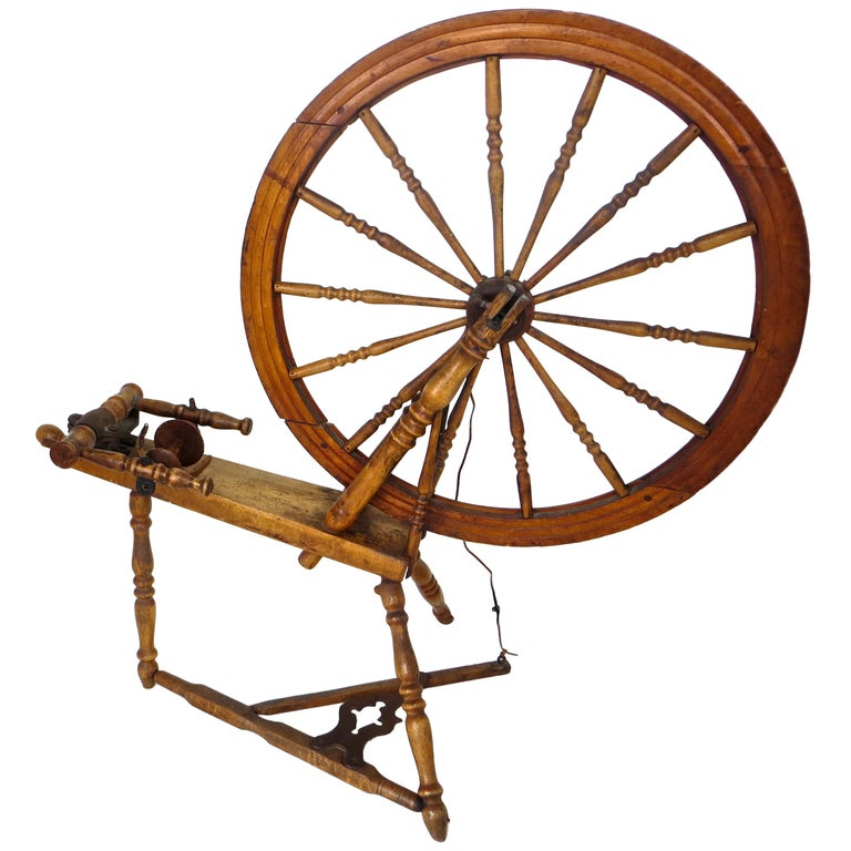 Mid-19th Century American Spinning Wheel For Sale