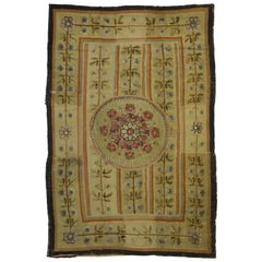 Mid-19th Century Antique French Aubusson Rug with Chintz Renaissance Style