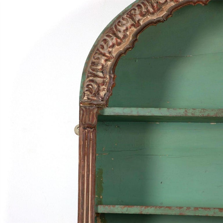 Mid-19th century Austrian wall shelves in old, but not original, paint.