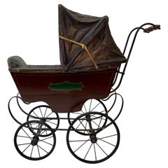 Mid 19th Century Baby Carriage / Stroller by F. A. Whitney, Leominster, MA