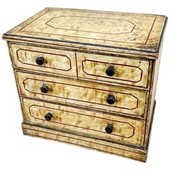 Mid-19th Century Bird's-Eye Maple Simulated Miniature Chest