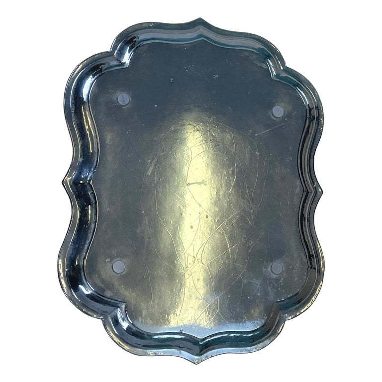 Mid 19th Century Black Papier Mache Tray On Stand For Sale 1