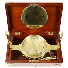 Mid-19th Century Brass Diopter Topographic Compass