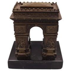 Mid-19th Century Bronze Model of the Arc de Triomphe