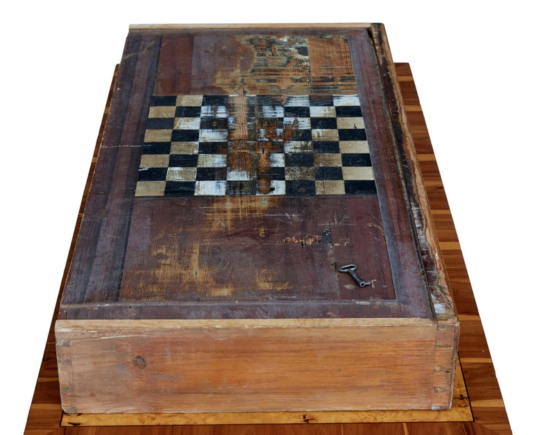 Mid-19th Century Burr Birch and Elm Games Table For Sale 5