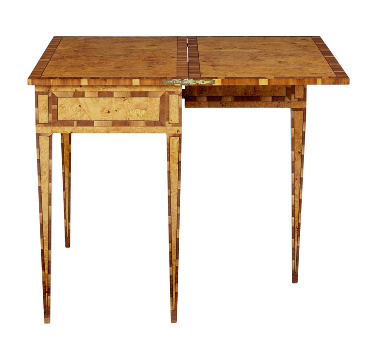 Mid-19th Century Burr Birch and Elm Games Table For Sale 1