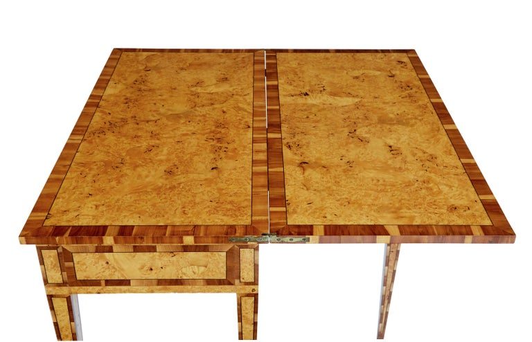 Mid-19th Century Burr Birch and Elm Games Table For Sale 2
