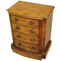 Mid-19th Century Burr Walnut Miniature Chest of Drawers