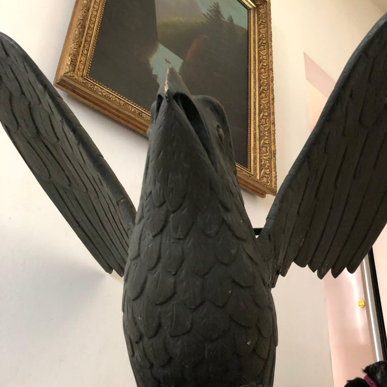 Mid-19th Century Carved American Pilot House Eagle For Sale 2