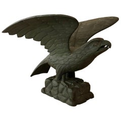 Mid-19th Century Carved American Pilot House Eagle