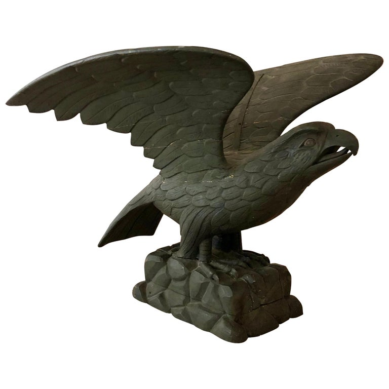 Mid-19th Century Carved American Pilot House Eagle For Sale