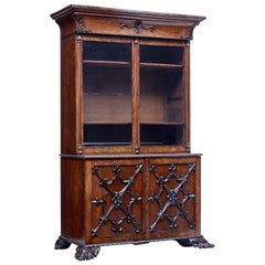 Mid-19th Century Carved Mahogany Danish Bookcase