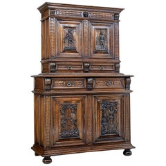 Mid-19th Century Carved Walnut Italian Cabinet