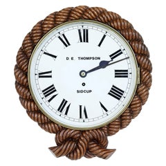Mid-19th Century Carved Walnut Wall Clock by D.E.Thompson of Sidcup