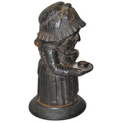 Mid-19th Century Cast Iron Match Holder by Zimmerman of Hanau Germany circa 1850