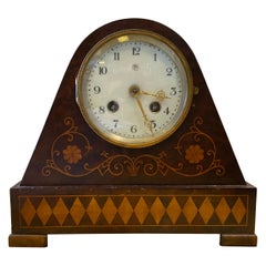 Mid-19th Century Charles X Inlaid Wood Italian Table Clock