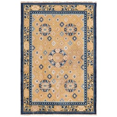 Mid-19th Century Chinese Ningxia Rug. Size: 4 ft x 6 ft (1.22 m x 1.83 m)