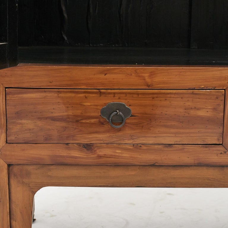 Mid-19th Century Chinese Peachwood Cabinet For Sale 8