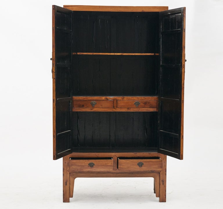 Qing Mid-19th Century Chinese Peachwood Cabinet For Sale