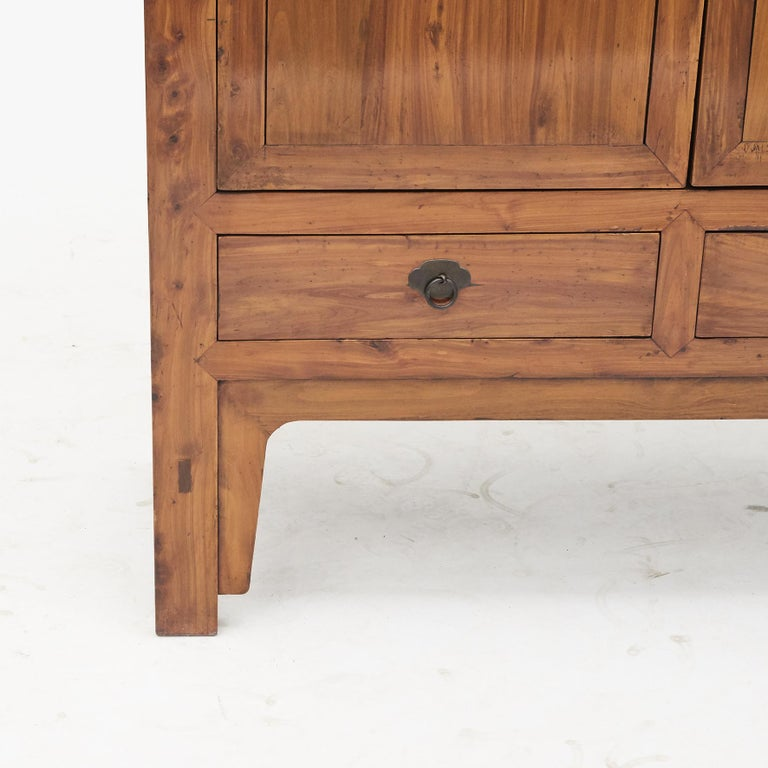 Mid-19th Century Chinese Peachwood Cabinet For Sale 2
