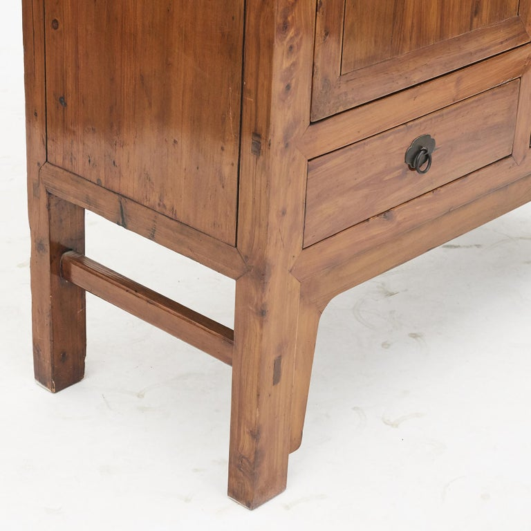 Mid-19th Century Chinese Peachwood Cabinet For Sale 3