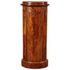 Mid-19th Century Danish Mahogany Biedermeier Pedestal Cabinet